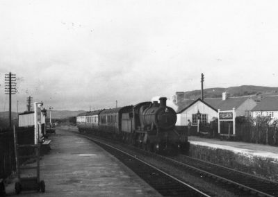 An Aberystwyth to Carmarthen service arriving in Tregaron c. 1950s