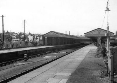 Aberystwyth station in the 1950s showing the bay platform used by trains to and from Carmarthen.