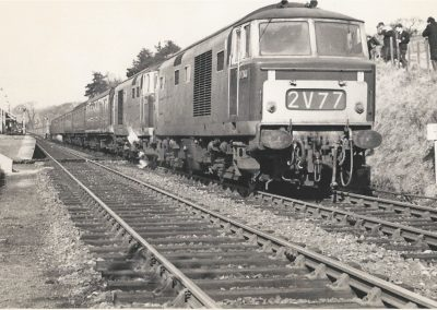 The last passenger train to leave Lampeter for Carmarthen, 22nd February 1965.