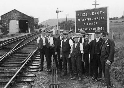 Railway workers in Lampeter, 1941.